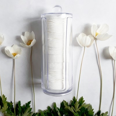 Акриловый органайзер для ватных дисков Cosmetic organizer