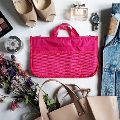 Купить органайзер для сумки 29*19*8 см (розовый)