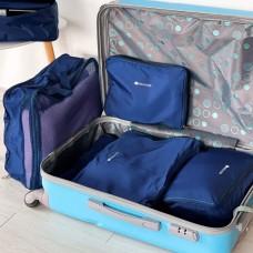 Органайзеры для вещей для путешествий 5 шт (синий)
