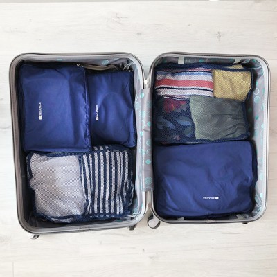 Купить органайзеры для вещей для путешествий 5 шт (синий)