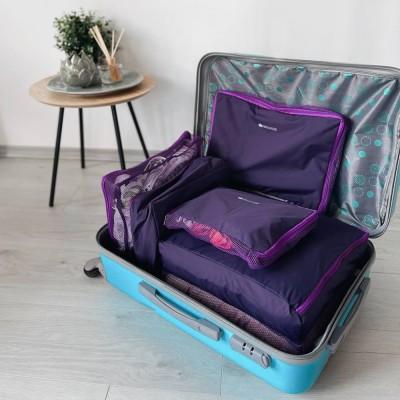 Купить сумочки в чемодан 5 шт (фиолетовый)