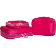 Набор 5 шт сумки дорожные органайзеры (розовый)