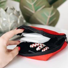 Органайзер для женских мелочей 11*11*2 см (красный)