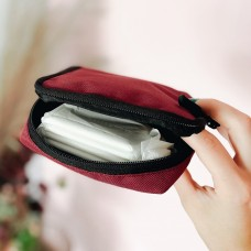 Органайзер для женских мелочей 11*11*2 см (бордовый)