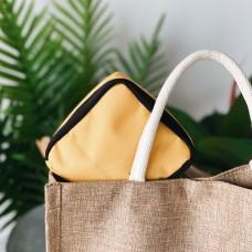 Органайзер для женских мелочей 11*11*2 см (желтый)