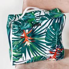 Большая хлопковая сумка для вещей 40*31*15 см (джунгли)