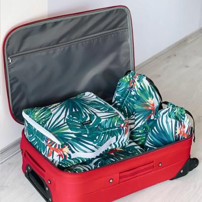 Купить набор хлопковых сумок для вещей 4 шт (джунгли)