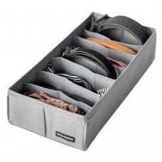Коробочка для носочков и ремней 35*17*8 см (серый)