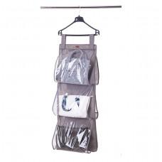 Подвесной органайзер для хранения сумок L (серый)