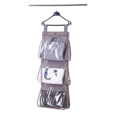 Купить подвесной органайзер для хранения сумок L (серый)