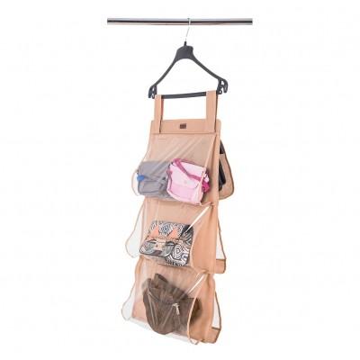 Купить подвесной органайзер для хранения сумок S 70*40 см (бежевый)