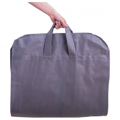 Купить кофр для одежды с ручками длиной 110 см (серый)