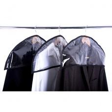 Комплект накидок-чехлов для одежды 3 шт (черный)