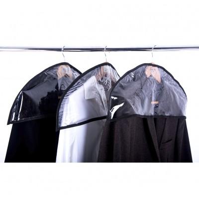 Купить комплект накидок-чехлов для одежды 3 шт (черный)