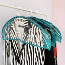 Комплект накидок-чехлов для одежды 3 шт 60*21 см (лазурь)