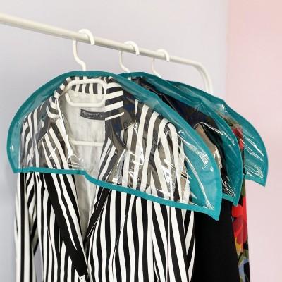 Купить комплект накидок-чехлов для одежды 3 шт (лазурь)