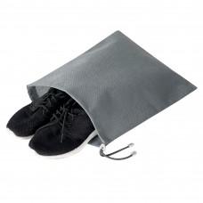 Мешок для обуви на затяжке 30*40 см (серый)