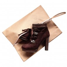 Объемная сумка-пыльник для обуви на молнии 40*30*10 см (бежевый)