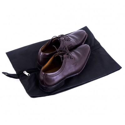 Купить объемную сумку-пыльник для обуви на молнии (черный)