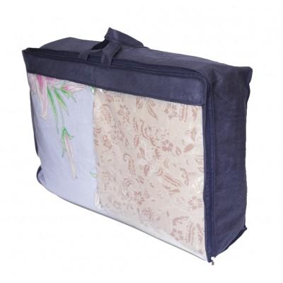 Купить упаковку для одеяла и подушек L (синий)