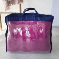 Сумка-чемодан из пвх для одеял и подушек S (синий)