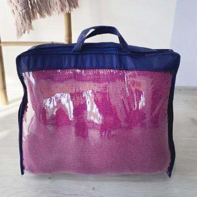 Купить сумку-чемодан из пвх для одеял и подушек S (синий)