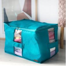 Вместительная сумка для хранения вещей XL - 46*32*29 см (лазурь)