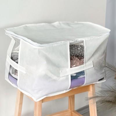 Купить вместительную сумку для хранения вещей XL - 46*32*29 см (белый)