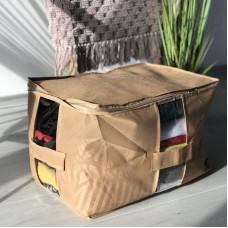 Вместительная сумка для хранения вещей XL - 46*32*29 см (бежевый)