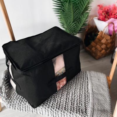 Купить вместительную сумку для хранения вещей XL - 46*32*29 см (черный)