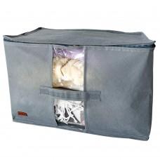 Вместительная сумка для хранения вещей XL - 46*32*29 см (серый)