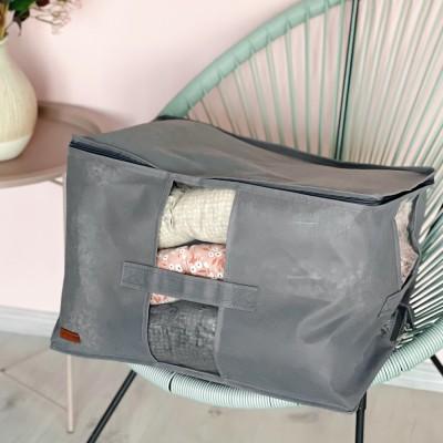 Купить вместительную сумку для хранения вещей XL - 46*32*29 см (серый)