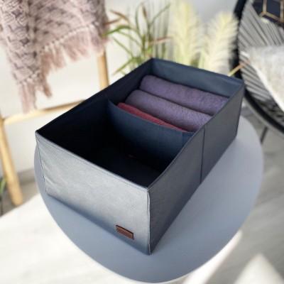 Купить короб для вертикального хранения на два отдела 40*25*16 см (серый)