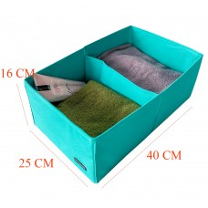 Короб для вертикального хранения с перегородкой 40*25*16 см (лазурь)