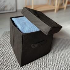 Короб с крышкой 30*30*30 см (черный)