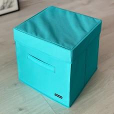 Короб для хранения с крышкой 30*30*30 см (лазурь)