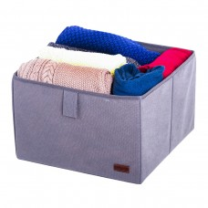 Ящик-органайзер для хранения вещей L - 30*30*20 см (серый)