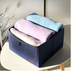 Ящик-органайзер для хранения вещей и документов в шкафу L (синий)
