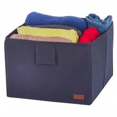 Ящик-органайзер для хранения вещей и документов в шкафу L - 30*30*20 см (синий)