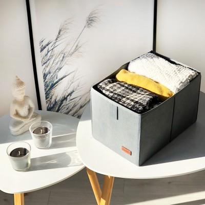 Купить кофр для хранения вещей украинского производства M - 30*19*17 см (серый)