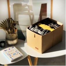 Ящик-органайзер для хранения вещей M - 30*19*17 см (бежевый)