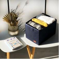 Ящик-органайзер для хранения вещей M - 30*19*17 см (синий)