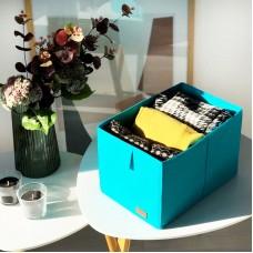 Ящик-органайзер для хранения вещей M - 30*19*17 см (лазурь)
