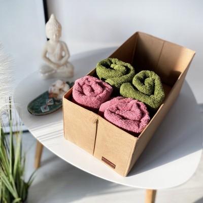 Купить текстильную коробку для хранения S 34*16*16 см (бежевый)