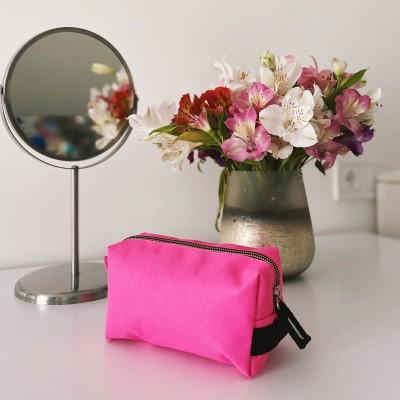 Купить вместительную косметичку (розовый)