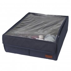 Коробка с крышкой для трусов 20 ячеек (джинс)
