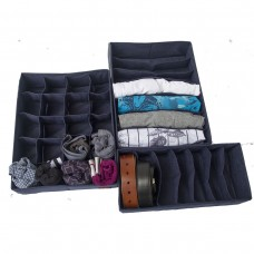 Комплект органайзеров для нижнего белья 3 шт (джинс)