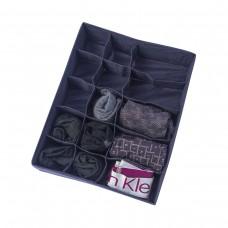 Двойной органайзер для белья 35*28*8 см (джинс)