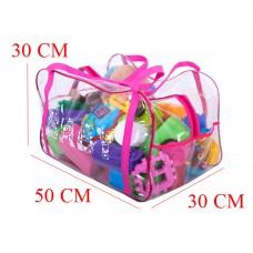Сумка в роддом/для игрушек (розовый)