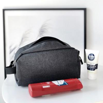 Купить мужскую дорожную косметичку\органайзер для путешествий (серый)